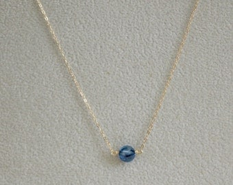 Sapphire Pendant-Sapphire Necklace-Blue Pendant-Blue Necklace-September Birthstone-Something Blue-Gifts Under 50-Gifts for Her