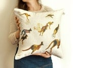 Kangaroo pillow | watercolor art on cushion cover