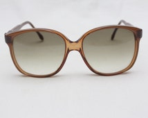 "Rare 80's Vintage ""REPETTO"" Brown Large Lens DESIGNER Sunglasses"