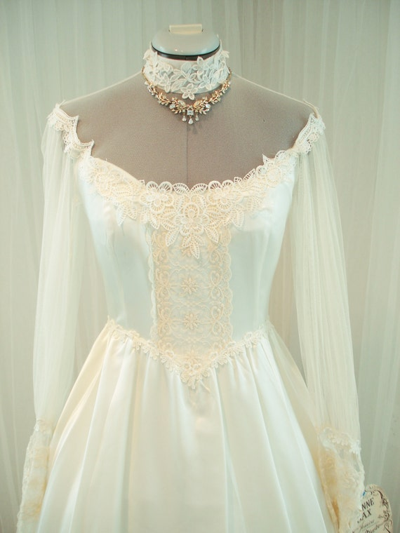 Original vintage gunne sax bridal gown wedding by thetealdoor for Gunne sax wedding dresses