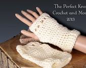 PDF Crochet Pattern File - The NOW Fingerless Gloves/ Texting Mitts
