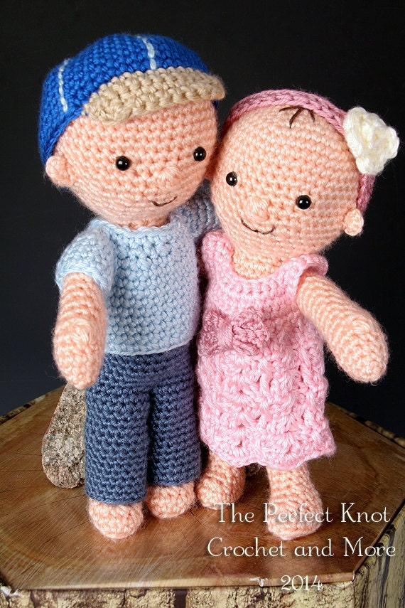 Amigurumi Dress Up Dolls : PDF Crochet Pattern My First Babies Amigurumi Dress-up Dolls