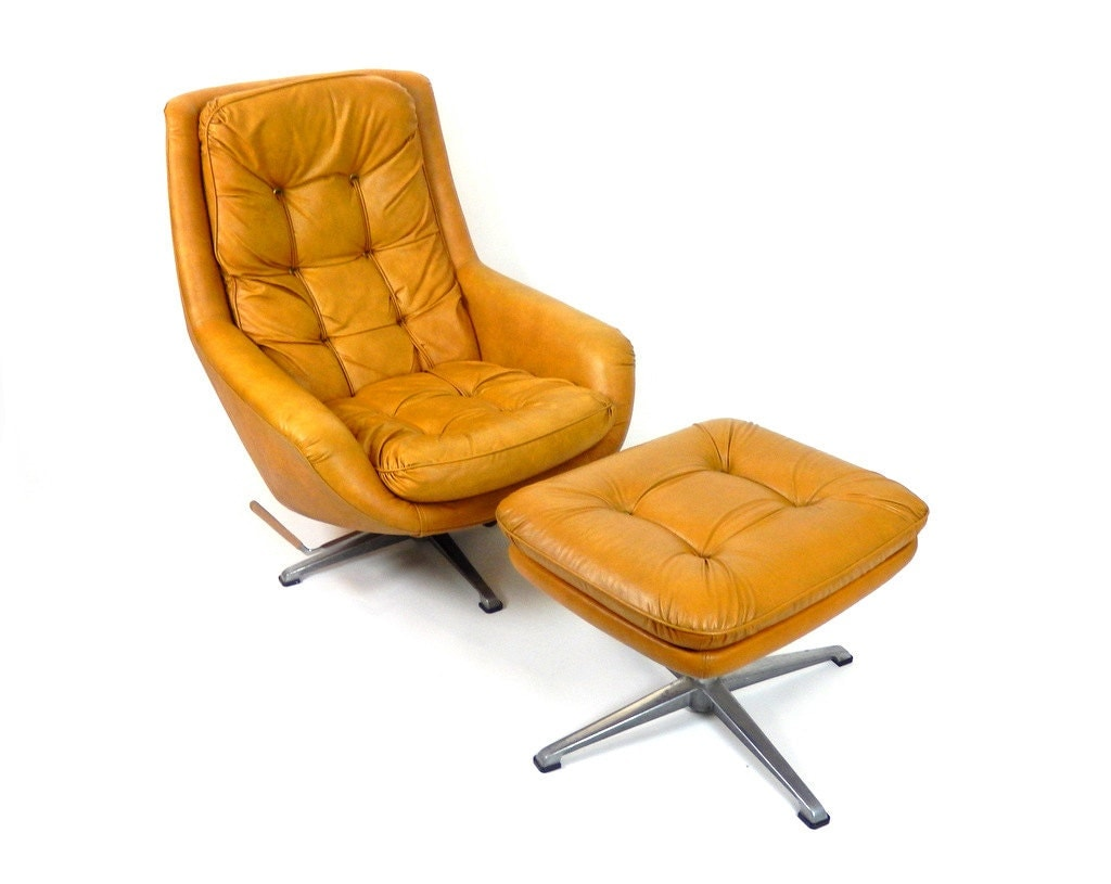 Mid Century Modern Overman Swedish Lounge Chair By
