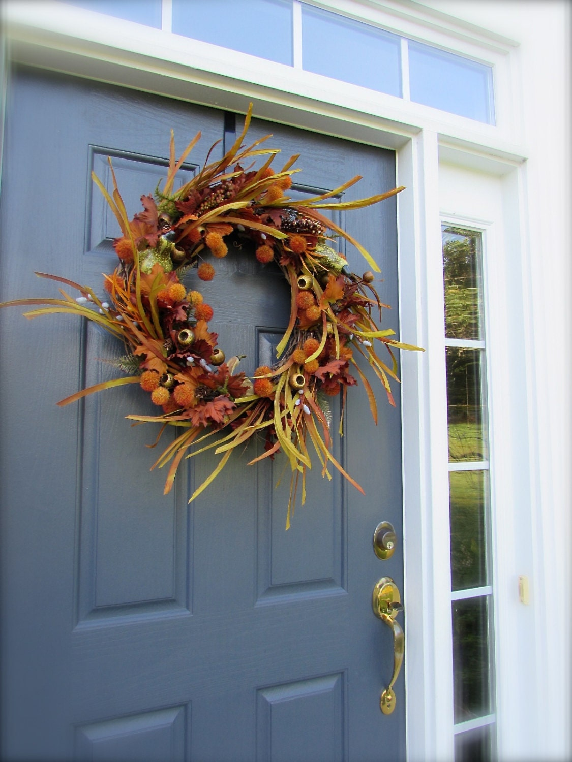 Fall Wreath Autumn Door Wreaths Door Wreaths For Fall Fall: fall autumn door wreaths