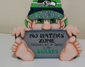 Seattle Seahawks inspired gnome funny  sign