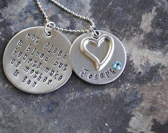 Adoption Necklace. Custom Adoption Necklace. God Gave Me You. For This Child I Prayed.