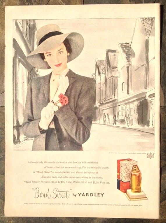 1947 Bond Street by Yardley Perfume Advertisement