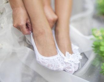 """BenitoDream socks - model """"White butterfly"""""""