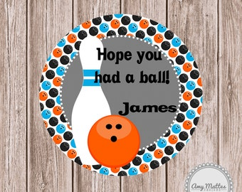 Printable Favor Tag Boys Bowling Birthday Printable Tags Birthday Party Birthday Invitation