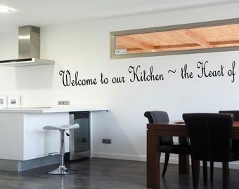 Beau Welcome To Our Kitchen Vinyl Decal Wall Quote Kitchen Borders Modern Home  Decor Quotes Stickers Decals