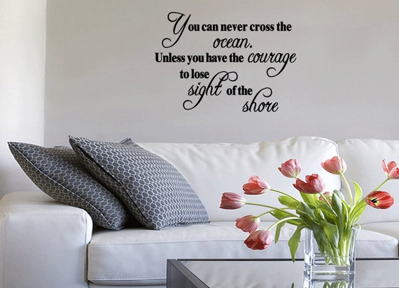 You Can Never Cross The Ocean Vinyl Wall Quote Decal Nr Stickers Home Words (27)