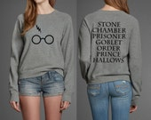 Potter Head Geek Book Movie Titles Inspired Unisex Men or Women Sweatshirt