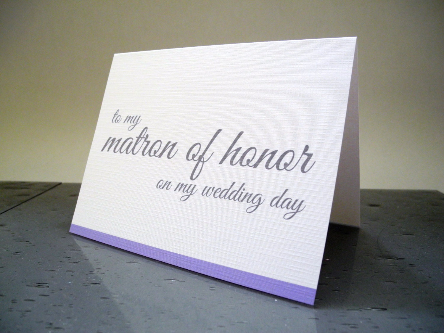 Honor Or Honour On Wedding Invitations: To My Matron Of Honor Wedding Cards Bridal By TheWhiteInvite