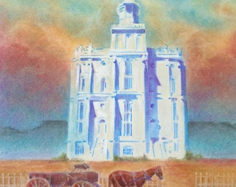 A Temple in the Desert giclee print