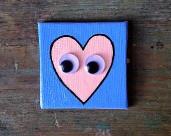 Googly Eye Magnet - Blue/Peach