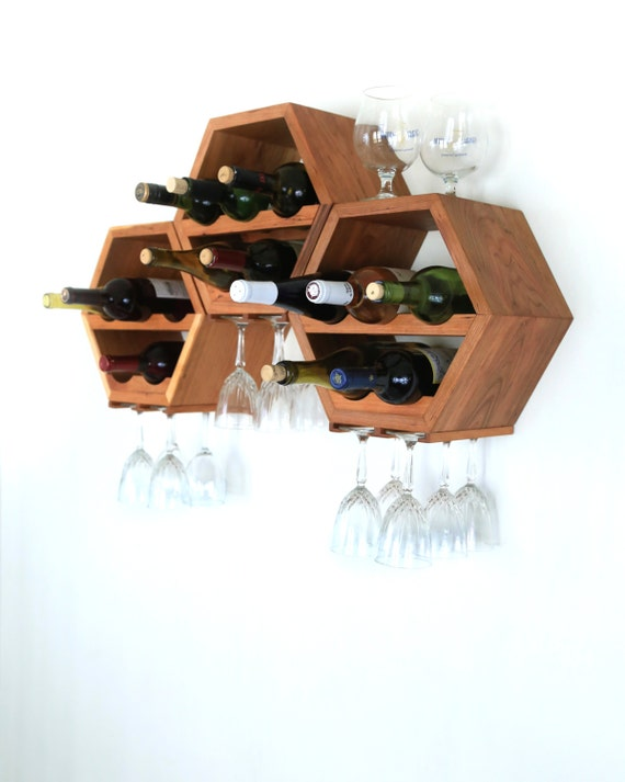 Hanging wine rack wood wine rack wine storage by Hanging wooden wine rack