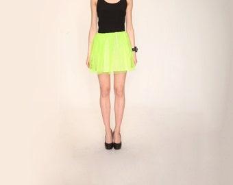 Tulle skirt  neon color | Fluo | party skirt | skirt for teens |