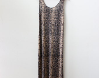 Slinky Snakeskin 90s Maxi Dress