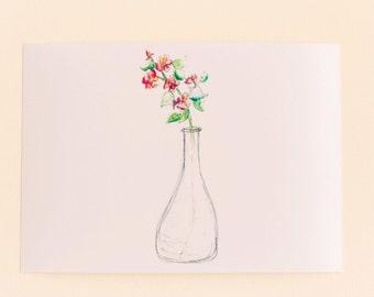 Flowers in Vases Print SeT,  Any 1 Floral Vase Print