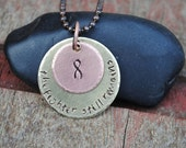 Cancer Survivor Necklace, Fighter Pendant