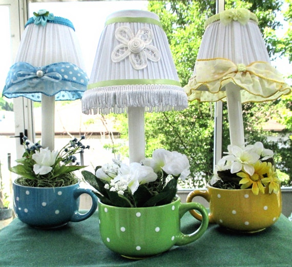 Lampshade with Electric candle Night Light Accent Lamp