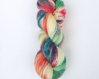 SALE Hand Dyed Sock Yarn, Knitting Yarn, Peruvian Highland Wool, 100g/440 yards, Preorder