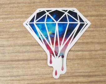 Galaxy Diamond Clear Sticker, 100% Waterproof Vinyl Sticker, Pop Culture Clear Sticker