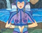 Water Priestess - Art print