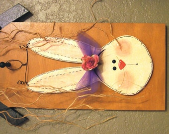 Easter Bunny for Welcome to Our Home Seasonal Wood Sign