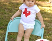 Custom Hometown State Onesie - My Heart Belongs to... - All 50 States Available - Featured in HGTV Magazine July/August 2014 Issue