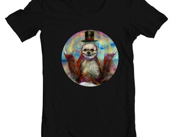Sloth T-Shirt - Sloth Tee - Sloth Artwork - Slothske by Black Ink Art
