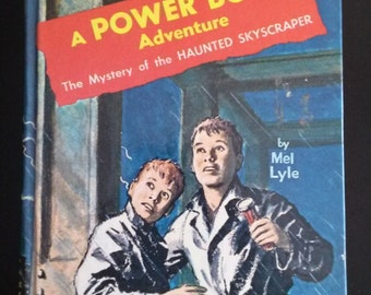 Vintage 1960s A Power Boys Adventure The Mystery of the Haunted Skyscraper by Mel Lyle