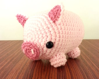 Midi Pig Amigurumi Plush