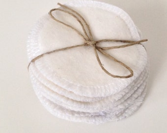 Reusable Cotton Rounds, Set of 40 Washable Organic Bamboo Cotton Makeup Remover Pads, Facial Cleansing Rounds, Facial Poufs, Toner Pads
