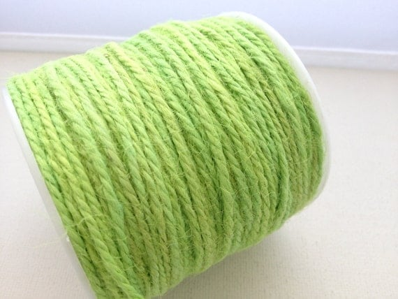 Knitting Art 4m : Yards of mm hemp twine cord lime green from