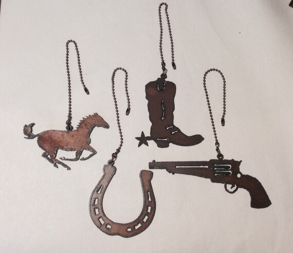 CEILING FAN PULL Western Horse Boot Horseshoe By