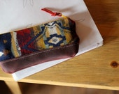A Rimrock Evening: Leather and Wool Pencil Pouch