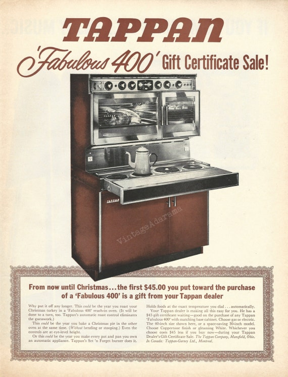 Tappan Fabulous 400 Oven Original 1963 Vintage By