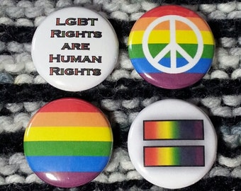 LGBT Political Equality Buttons - Set of 4