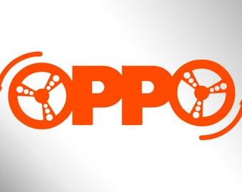 OPPO vinyl sticker - Opposite Lock decal
