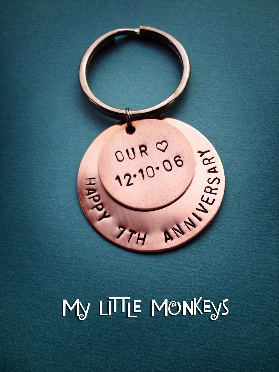Gift For 7th Wedding Anniversary: 7th Wedding Anniversary Gift Copper Gift By MyLittleMonkeysAZ