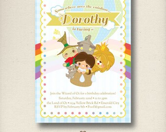 Wizard of Oz | PRINTABLE Birthday Invitation | Personalized Invite Card | PDF or JPG