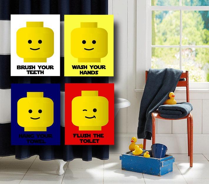 Legos Bathroom Wall Art Legos People Bathroom Rules