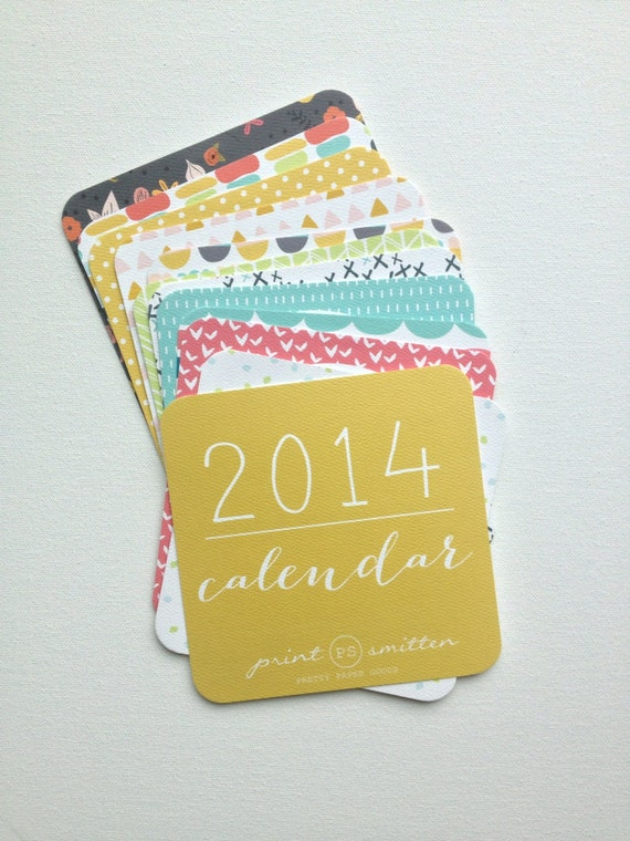 Pattern shapes calendar