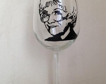 Hand Painted Wine Glass - SOPHIA PETRILLO - The Golden Girls