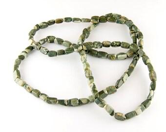 Strand of Jungle Agate Pebble Beads