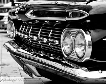 "Vintage Car Photo - Chevrolet Impala - Black and White 6x4"" Photo Print - UK Seller"