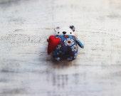Fatsy Petsy primitive teddy bear blue orange white red heart 6' baby shower gift nursery decor
