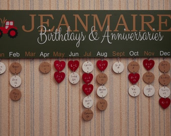 Family Birthday and Anniversary Board