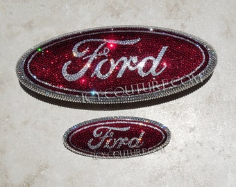 Crystal FORD Car Bling Oval Emblem with Swarovski crystals
